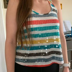 Tank top with sequin detail